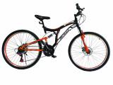 """Bicicleta MTB Full Suspensie Vision Kings 2D Culoare Negru/Portocaliu Roata 26"""" PB Cod:202602010302"""