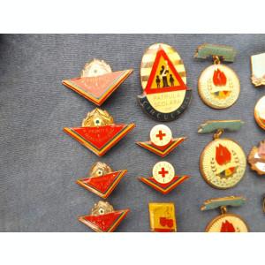 Insigne si trese pentru pionieri,perioada comunista.