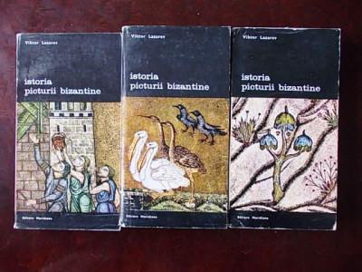 ISTORIA PICTURII BIZANTINE- VIKTOR LAZAREV- 3 volume, r4e foto