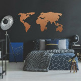 Cumpara ieftin Decoratiune pentru perete, Ocean, metal 100 procente, 121 x 56 cm, 874OCN1014, Maro