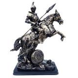 Cumpara ieftin Statueta calaret in armura de lupta pe cal cu sulita, 29 cm, 413GC
