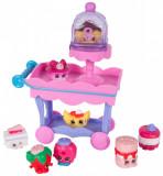 Set 8 figurine Pink Shopkins - Mini dulciuri asortate si carucior, Moose