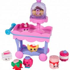 Set 8 figurine Pink Shopkins - Mini dulciuri asortate si carucior