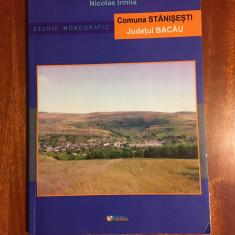 Comuna STANISESTI judetul BACAU. Studiu monografic - Nicolae IRIMIA (2011)