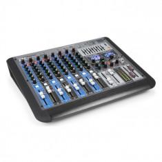 Power Dynamics PDM-S1204 Mixer cu 12 canale DSP / MP3, port USB, receptor BT