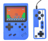 """Mini Consola Retro 8bit, portabila si pentru televizor, 400 de jocuri, eran 3"""", albastru - 400SUP"""
