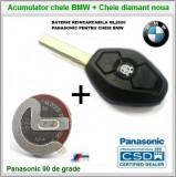 Baterie acumulator + Cheie diamant + emblema BMW E36/46 E38/39 E60/65/66