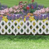 Bordura pt. pat de flori / gard - 60 x 22 cm - alb Best CarHome