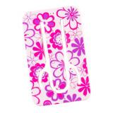 Suport telefon flexibil Floare Roz, TG by AleXer, 8190140, roz, plastic, metal, saculet si laveta incluse