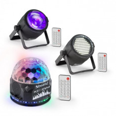 Beamz PLS10, Set V4, Jellyball, PLS15 Stroboscop, PLS30 LED reflector
