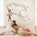 Cumpara ieftin Sticker decorativ, A blossom faerie of brilliant, 120 cm, 127STK