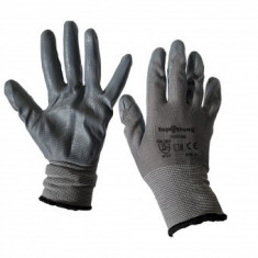 Mănuși de protecție fără cusături Topstrong Grey 2, cu strat de latex, marimea L