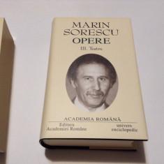 MARIN SORESCU TEATRU--OPERE--R9