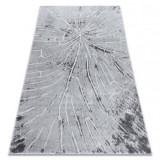 Covor MEFE modern 2784 Copac Lemn - structural două niveluri de lână gri , 80x150 cm