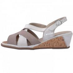 Sandale dama, din piele naturala, marca Suave, 1838CT-3, bej , marime: 37