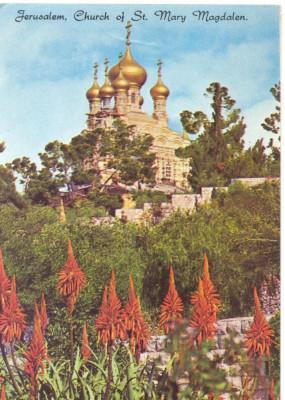 AD 1107 C. P. VECHE -IERUSALEM,  CHURCH OF ST. MARY MAGDALEN -IERUSALIM -ISRAEL foto