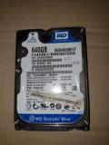 hard laptop sata - WESTERN DIGITAL - de 640 Gb - pentru  piese  -