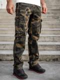 Pantaloni plus size maro cargo cu curea Bolf CT8501