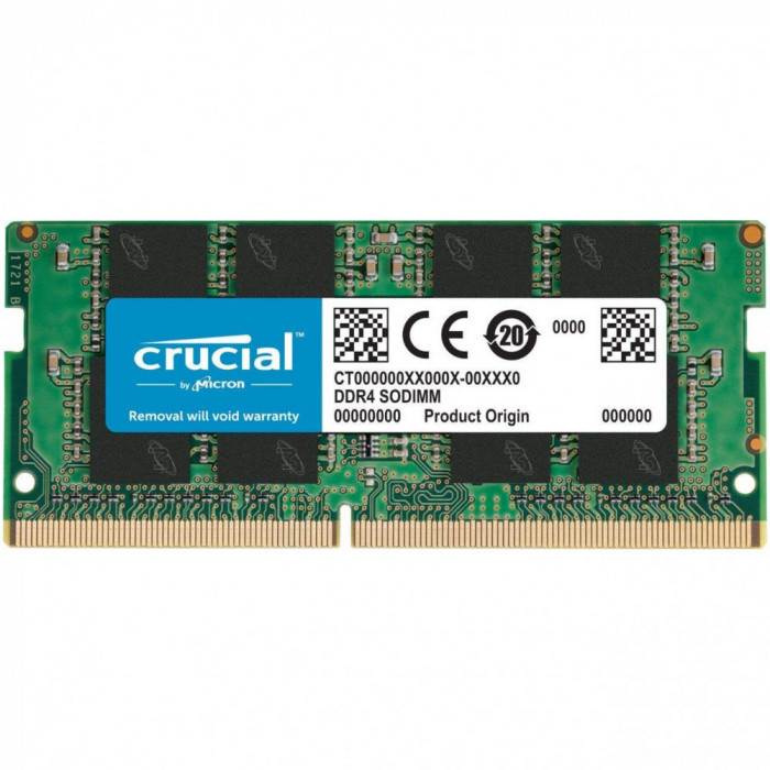 Memorie notebook Crucial 16GB, DDR4, 2666MHz, CL19, 1.2v