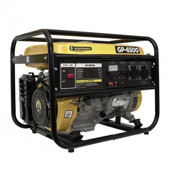 Generator monofazat pe benzina Gospodarul Profesionist, 5500 W, 15 l, 7 CP, 208 CC, motor 4 timpi