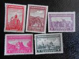 OCUPATIA GERMANA IN IUGOSLAVIA 1942-MANASTIRI-NESTAMPILATE FARA GUMA