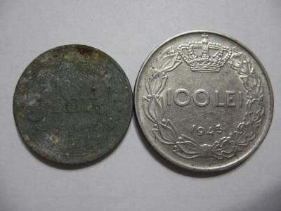 Romania (20) - 5 Lei 1942, 100 Lei 1943 foto