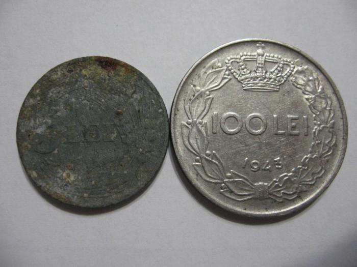 Romania (20) - 5 Lei 1942, 100 Lei 1943
