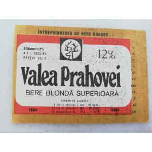Eticheta Bere - VALEA PRAHOVEI - Brasov.