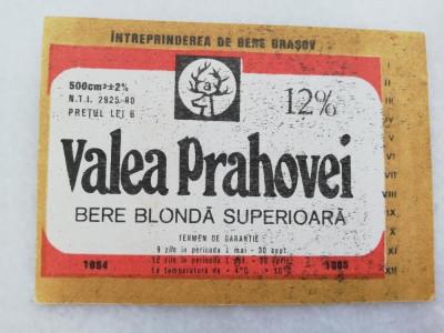Eticheta Bere - VALEA PRAHOVEI - Brasov. foto