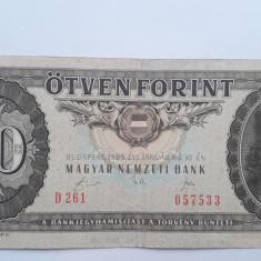 50 forint 1989 Ungaria bancnota