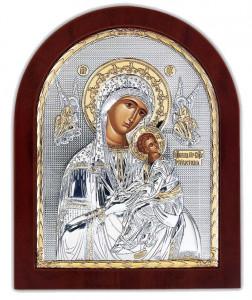 Icoana Maica Domnului a Patimilor (Amolinthos) pe Foita Argint 925 Auriu 11x13cm Cod Produs 2469