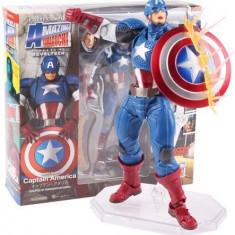 Figurina CAPITANUL AMERICA 16cm, captain america capete interschimbaile Avengers
