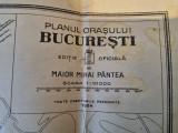 Planul orasului bucuresti - editie oficiala - harta bucuresti - din anul 1924
