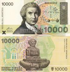 CROATIA 10.000 dinara 1992 UNC!!! foto