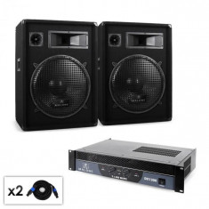 Malone Malone Boom DJ PA, Set amplificator difuzor & cablu 1200W