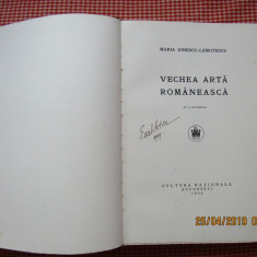 Vechea Arta Romaneasca-Maria Ionescu-Lămotescu.Ed.Cultura Nationala 1924.