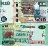 ZAMBIA 10 kwacha 2018 UNC!!!