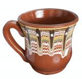 Cana ceramica, lut, pentru lapte, cu toarta, 300 ml, 016377