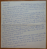 Scrisoare a scriitoarei Lucia Demetrius catre Mia Groza , 1968