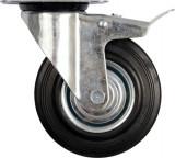 Roata mobila pentru carucior cu frana 125x155x34 mm VOREL