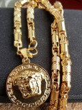 Lant +medalion INOX model Versace medusa  = 80 ron