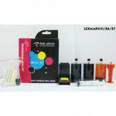 Kit refill color Lexmark-26 Lexmark-27 Lexmark-33 Lexmark-35 reincarcare cartuse