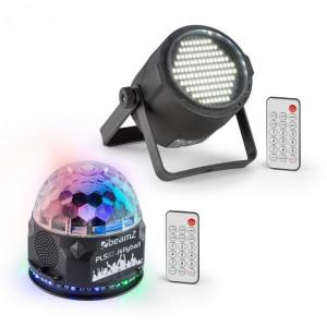 Beamz PLS10, Set V1 Jellyball, 48 LED-uri RGB, stroboscop cu led-uri