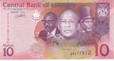 Bancnota Lesotho 10 Maloti 2013 - P21b UNC