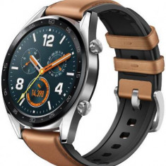 Smartwatch Huawei Watch GT Fortuna-B19V, Amoled 1.39inch, 16MB RAM, 128MB Flash, Bluetooth (Argintiu/Maro)