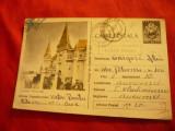Carte Postala Ilustrata - Castelul Huniazilor circulat 1959, Circulata, Printata