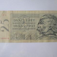 Rara! Cehoslovacia 25 Korun 1961