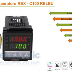 Termostat electronic Controler temperatura PID 0-400 C REX-C100 FK02-M*AN