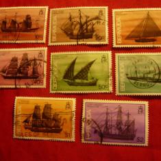 Serie mica - Bermuda Colonie Britanica 1986 - Corabii , 8 valori , stampilat