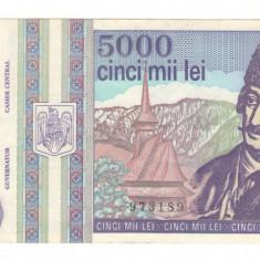 Bancnota Romania 5000 lei 1993  / A005
